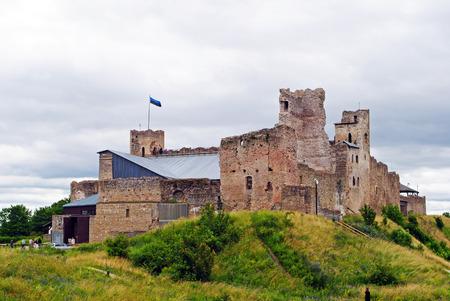A medieval castle in Rakvere, Estonia in summer