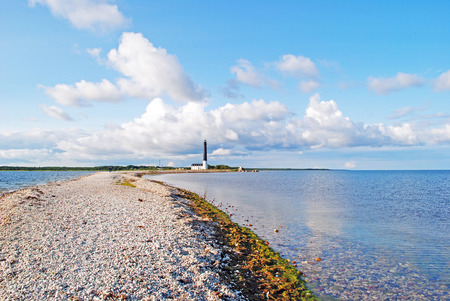 Lighthouse Sorve on Saaremaa island in Estonia