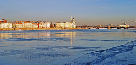 neva: Neva river embankment in Saint-Petersburg, Russia