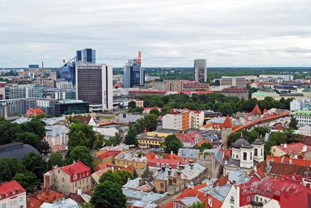 clody: Old and modern Tallinn bird-eye-view