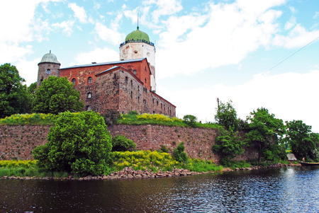 vyborg: Vyborg Castle view in summer