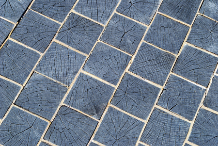pavers: a wooden pavers texture background Stock Photo