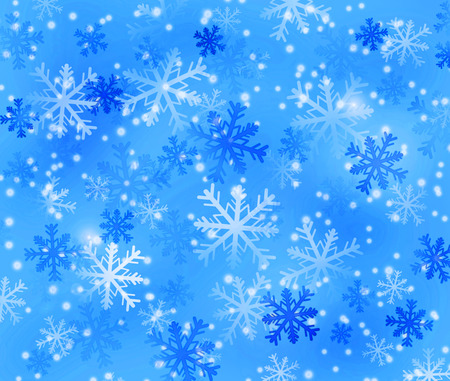 backing: winter background with snowflakes in cold colors Stock Photo