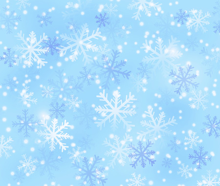 backing: winter backing with snowflakes in light blue colors