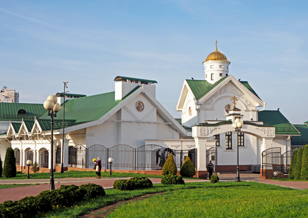 The Church of Cyril of Turov at the Cathedral House in Minsk, Belarus 版權商用圖片
