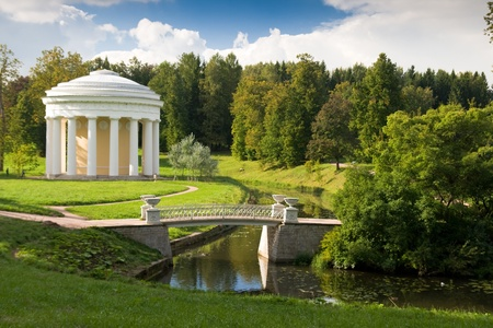 Pavilion in the park at Pavlovsk. St. Petersburg, Russia.