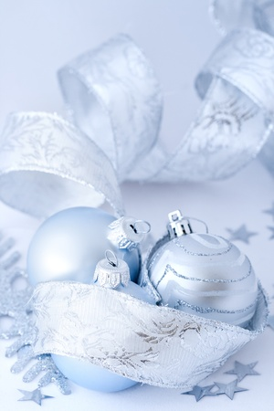 Closeup of christmas decoration on white background Standard-Bild