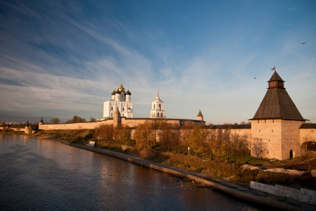 Medieval fortress - Pskov Kremlin. Russia photo