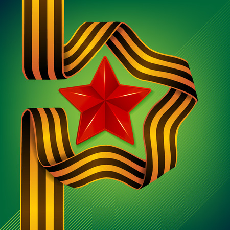 saint george: Vector Star and ribbon of Saint George - 9 May - Victory day Illustration