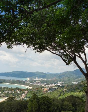 Western coast of the island of Phuket, Thailand. Panorama view photo