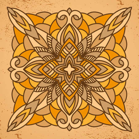 broun: Abstract square pattern. Broun and sand colors background. Vector illustration. Illustration