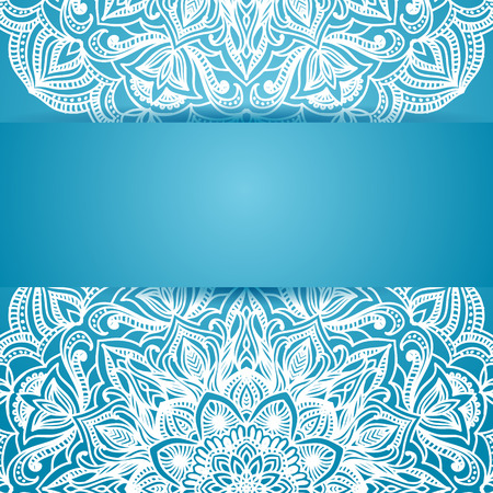 Abstract floral Pattern, Blue style. With Place for Text Vector
