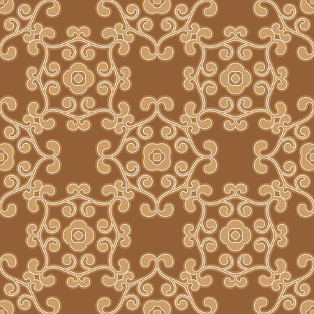 broun: Vector floral seamless vintage pattern in broun colors