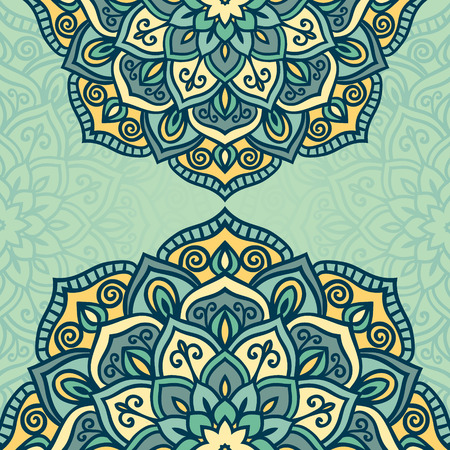 soft colors: Abstract vector circle floral ornamental border in soft colors Illustration