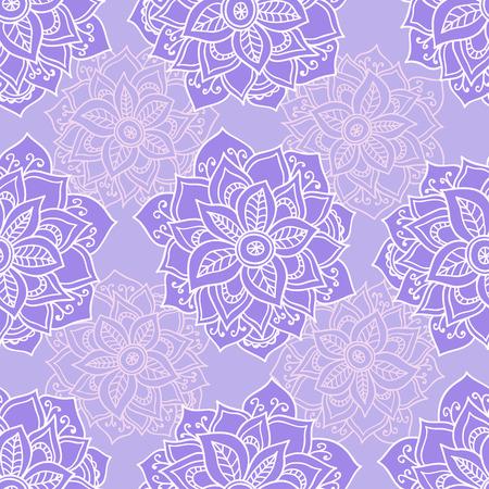 mandalas: Seamless pattern with Mandalas flowers. Vector background.