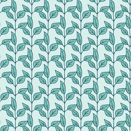 wrappers: Decorative seamless pattern with leaves. Template for design wrappers, package, textile and backgrounds. Illustration