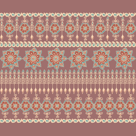 orient: seamless decorative border in Orient style. Illustration