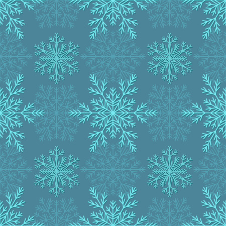 Duotone seamless winter texture with Snowflakes. Winter background for Christmas. Illustration