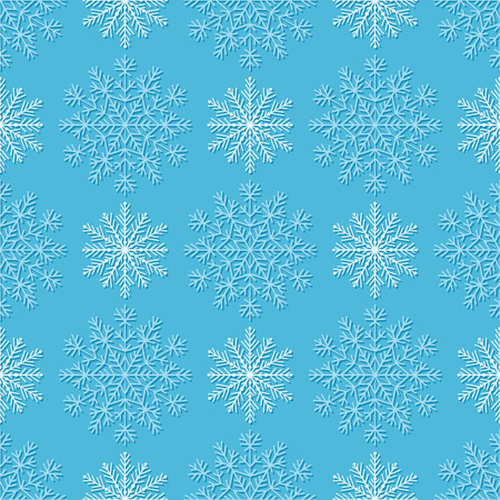 duotone: Duotone seamless winter texture with Snowflakes. Winter background for Christmas. Illustration