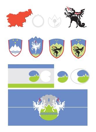 Slovenian symbols Stock Photo
