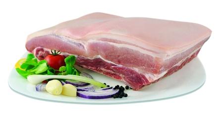pork ribs with skin Stock Photo