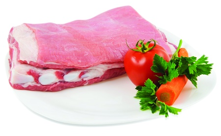 veal ribs Stock Photo