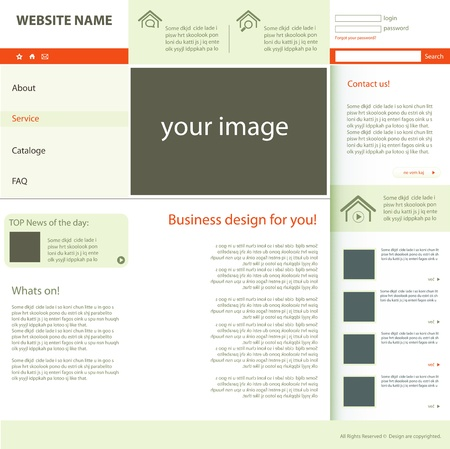 web design real estate Vector