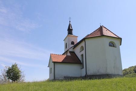 Old Slovenian church Stock Photo
