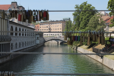 Love bridge - Lubiana, Slovenia