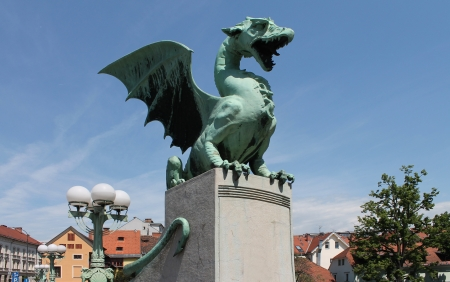 Dragon statue - Lubiana, Slovenia