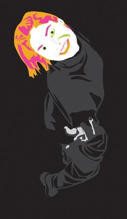 joking: Joking lady Illustration