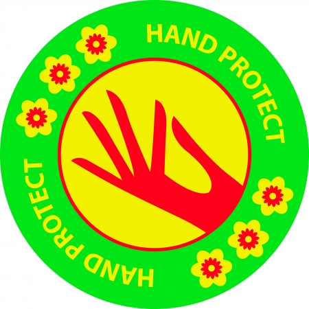 Hand protect sign Illustration