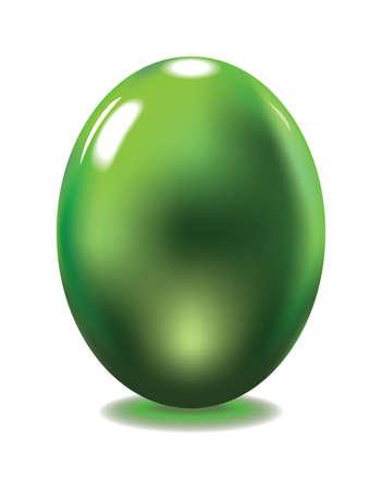 reflexe: Oeuf en verre vert avec reflex Illustration