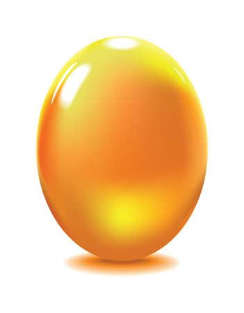 reflexe: Oeuf de verre jaune avec reflex