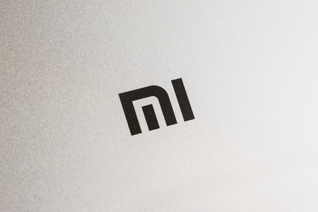 KIEV, UKRAINE - MAY 28, 2018: Xiaomi Redmi Note 4x Mi gold smartphone close up developed by Xiaomi Inc. Xiaomi is privately owned Chinese electronic company.