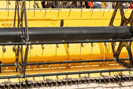 Working parts of new agricultural Harvester machine. Combine harvester agriculture machine. 写真素材
