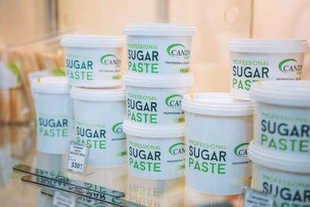 Sugaring Paste, Organic Hair Removal, Long Lasting Sugar Wax. Sugar Paste for hair removal, epilation. Kiev, Ukraine - April, 11 2019 Редакционное