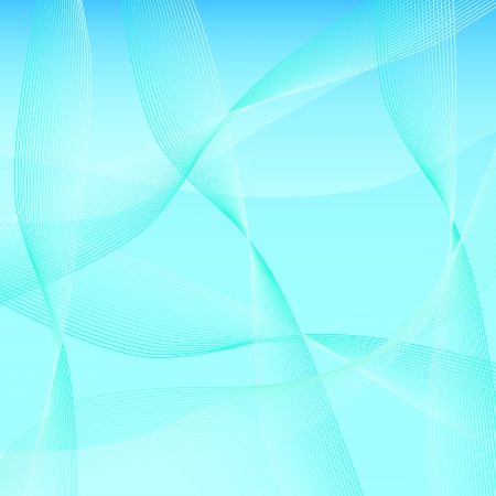 Blue smooth wave template Stock Photo