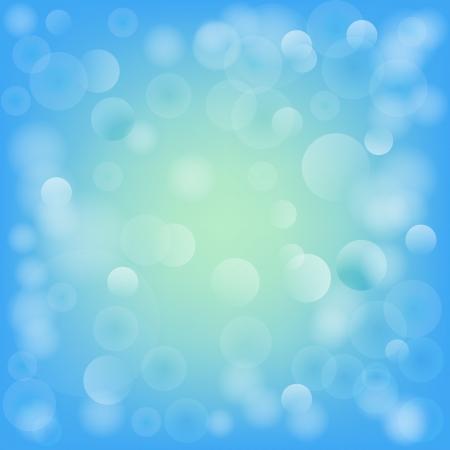 Niebieski bokeh abstrakcyjne światła ilustracji