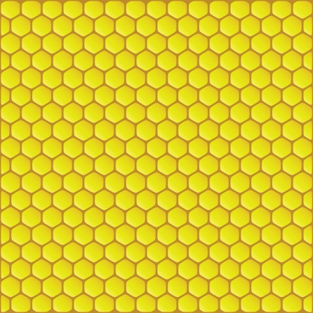 Yellow honeycomb background vector illustartion