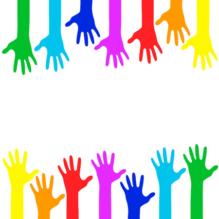 Colorful Hands - Vector Illustration