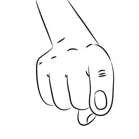 Sketch of a human hand with a pointing forefinger Stock Vector - 24080650