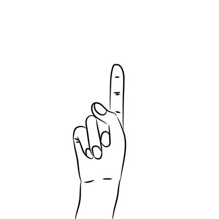 Hand with pointing forefinger up