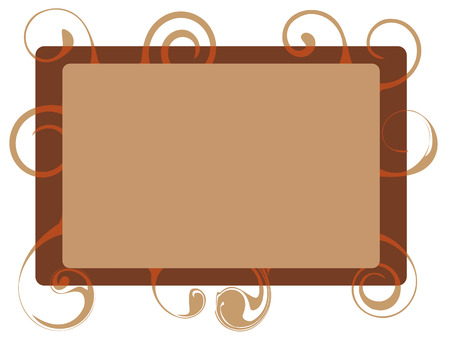 Decorative brown frame Illustration