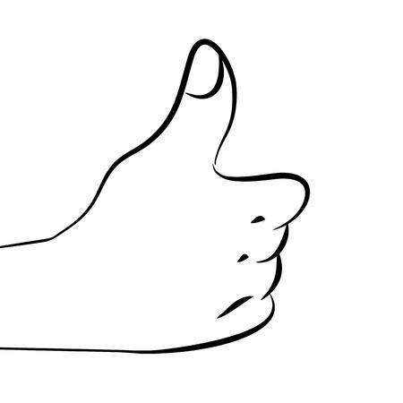 Human daje ok (grafika strony pokazano kciuk do góry)