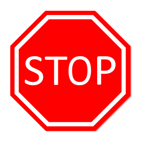 motorist: Vector illustration of Stop sign  Illustration