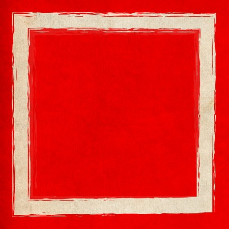 Big square frame in bright red color Stock Photo