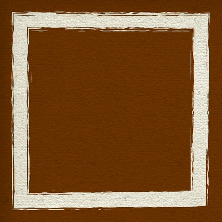 Big square frame in bright brown color Stock Photo