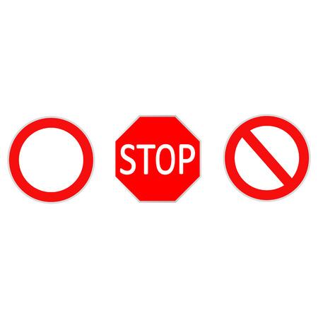 Znaki drogowe na białym tle - ilustracji wektorowych