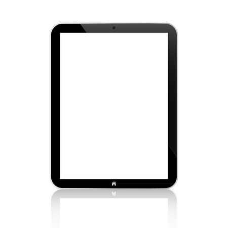 Black Business Tablet Similar With Button Isolated On White  Vector